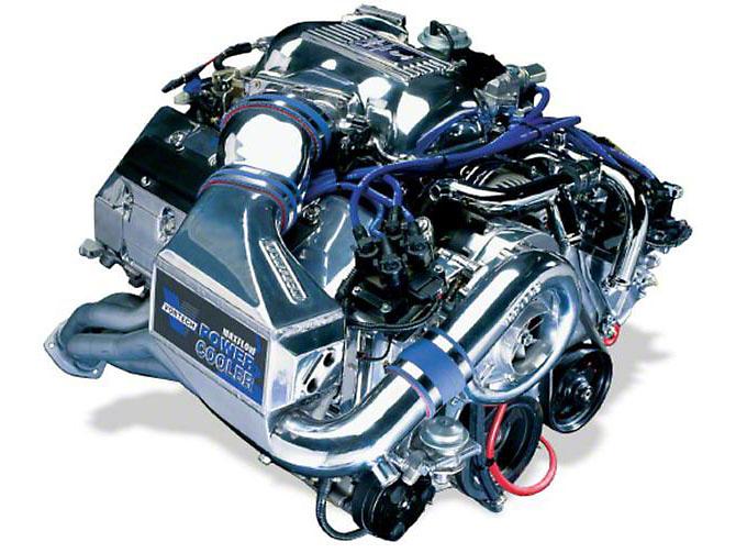 Vortech V-1 H/D Ti-Trim Supercharger System w/ Charge Cooler - Complete Kit - Satin (96-97 Cobra)