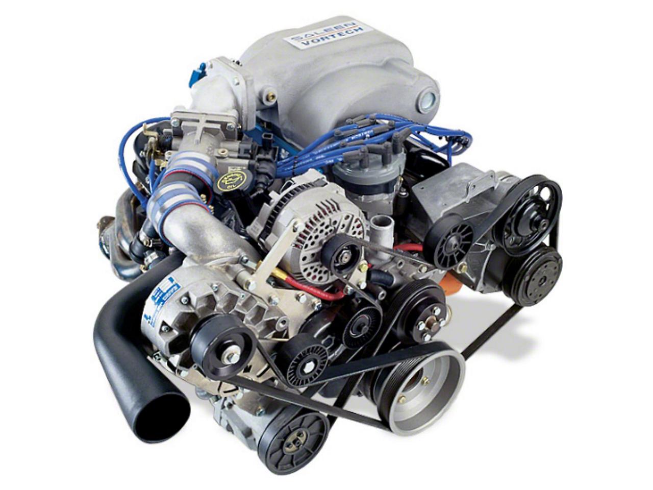 Vortech V-2 H/D Ti-Trim Supercharger System - Tuner Kit - Polished (94-95 5.0L)