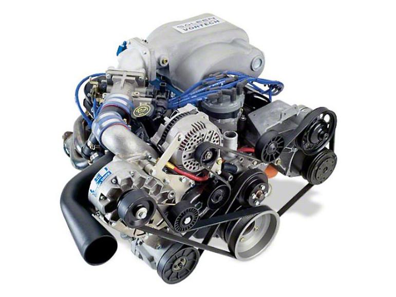 Vortech V-1 H/D Ti-Trim Supercharger System - Tuner Kit - Satin (94-95 5.0L)