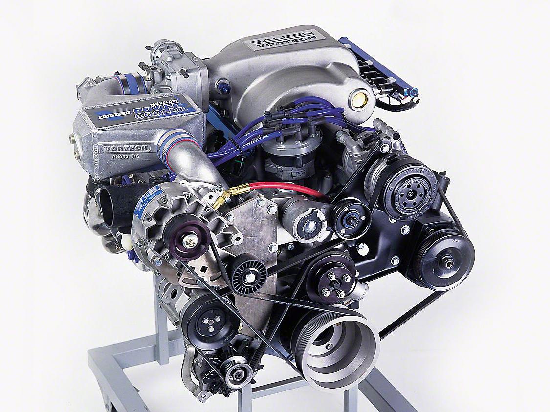 Vortech V-2 Si-Trim Supercharger System - Tuner Kit - Satin (86-93 5.0L)