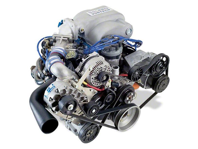Vortech V-2 Si-Trim Supercharger System Complete Kit - Satin (94-95 5.0L)