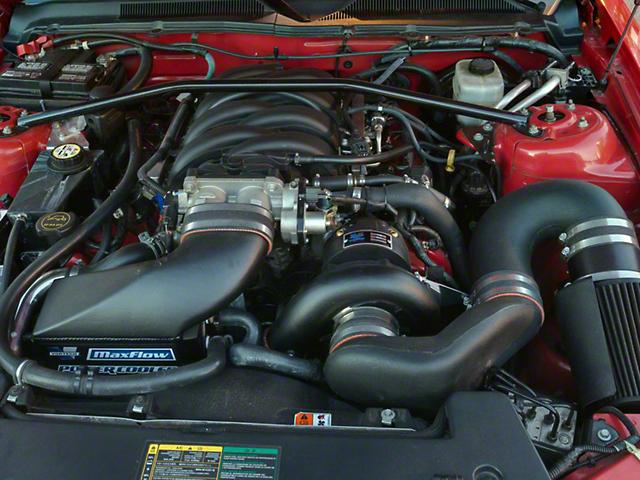 Vortech V-2 Si-Trim Supercharger Tuner Kit w/ Charge Cooler - Satin (05-09 GT)