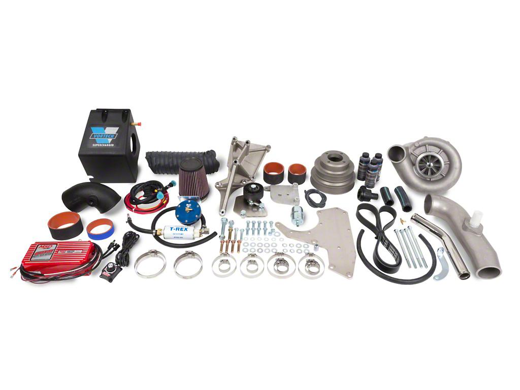 Vortech V-3 Si-Trim H.O. Supercharger System w/ Charge Cooler - Complete Kit - Satin (86-93 5.0L)