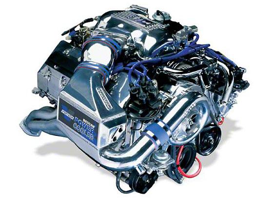Vortech V-3 Si-Trim Supercharger System w/ Charge Cooler - Complete Kit - Polished (96-97 Cobra)