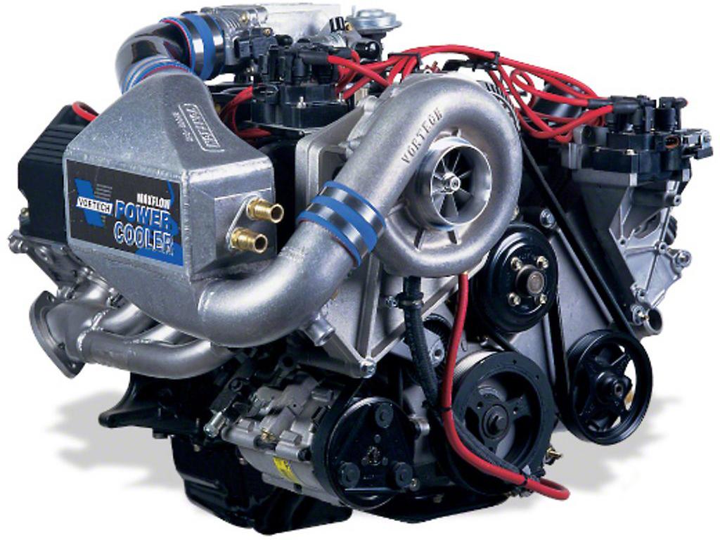 Vortech V-3 Si-Trim Supercharger System w/ Charge Cooler - Complete Kit - Satin (96-98 GT)