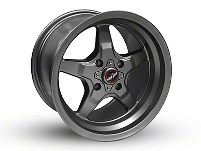 Race Star 91 Drag Star Metallic Gray Wheel - 15x10 (87-93 All, Excluding Cobra)