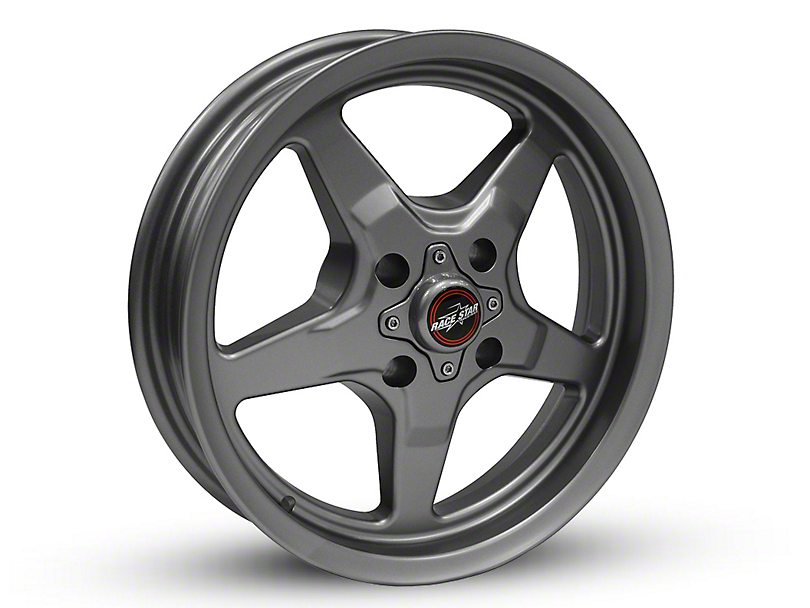 Race Star 91 Drag Star Metallic Gray Wheel - 15x3.75 (87-93 All, Excluding Cobra)