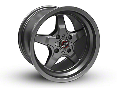 Race Star 91 Drag Star Metallic Gray Wheel - 15x8 (87-93 All, Excluding Cobra)