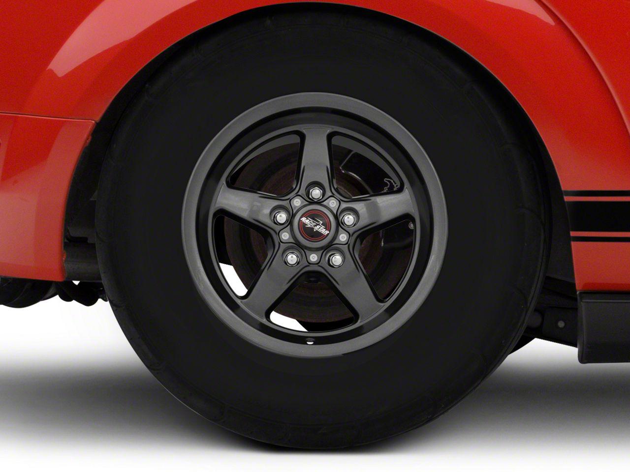 Race Star 92 Drag Star Bracket Racer Metallic Gray Wheel - 15x10 (05-14 All, Excluding 13-14 GT500)