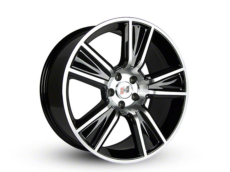 Hurst Stunner Black Machined Wheel - 20x9 (15-19 GT, EcoBoost, V6)