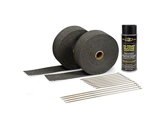 DEI Black Exhaust Wrap & Black Hi-Temp Silicone Coating Kit (79-19 All)