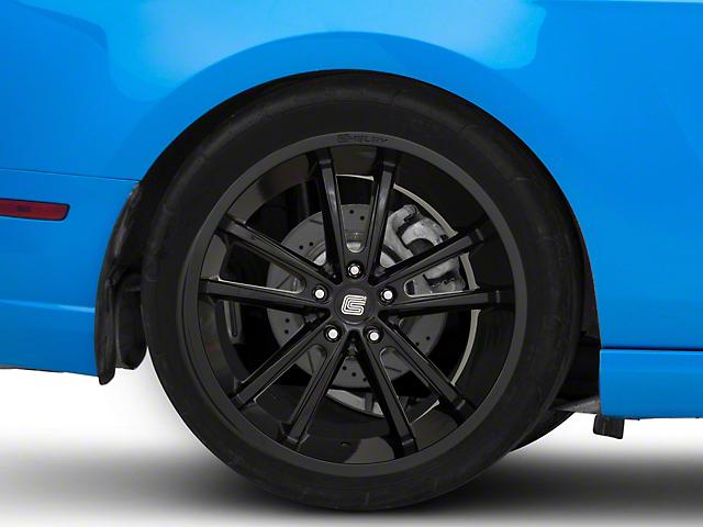 Shelby CS2 Black Wheel; Rear Only; 20x11 (10-14 All)