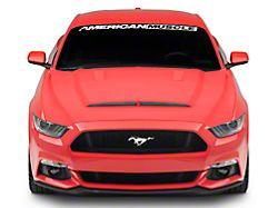 SpeedForm Ram Air Style Hood with Heat Extractor Vents; Unpainted (15-17 GT, EcoBoost, V6)
