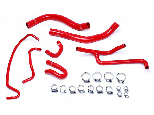 HPS Silicone Radiator Coolant and Heater Hose; Red (15-17 V6)