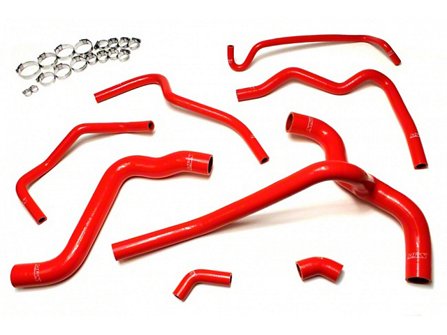 HPS Silicone Radiator Coolant & Heater Hose - Red (05-10 V6)