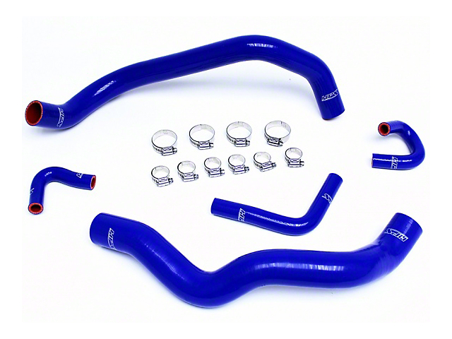 HPS Silicone Radiator Coolant and Heater Hose; Blue (01-04 V6)