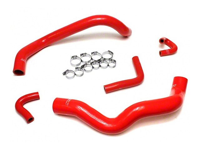 HPS Silicone Radiator Coolant & Heater Hose - Red (01-04 V6)