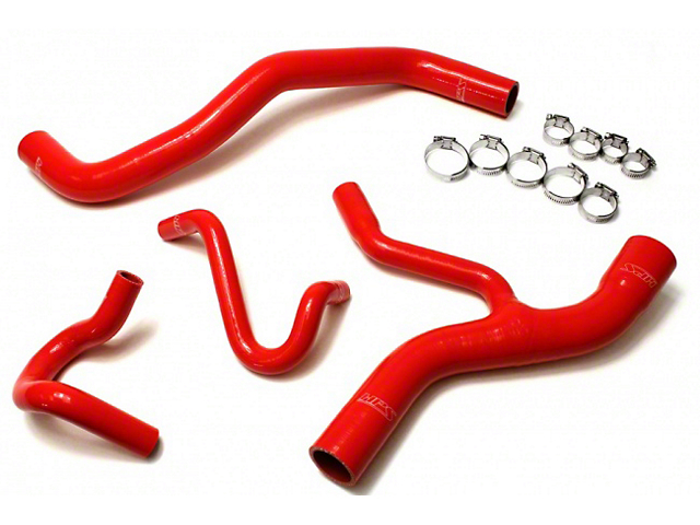 HPS Silicone Radiator Coolant and Heater Hose; Red (96-01 GT)