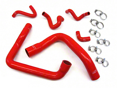 HPS Silicone Radiator Coolant & Heater Hose - Red (86-93 5.0L)