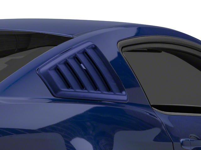 SpeedForm Quarter Window Louvers; Unpainted (05-14 Coupe)
