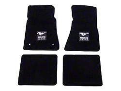 Lloyd Front and Rear Floor Mats with 50th Anniversary Logo; Black (79-93 All)