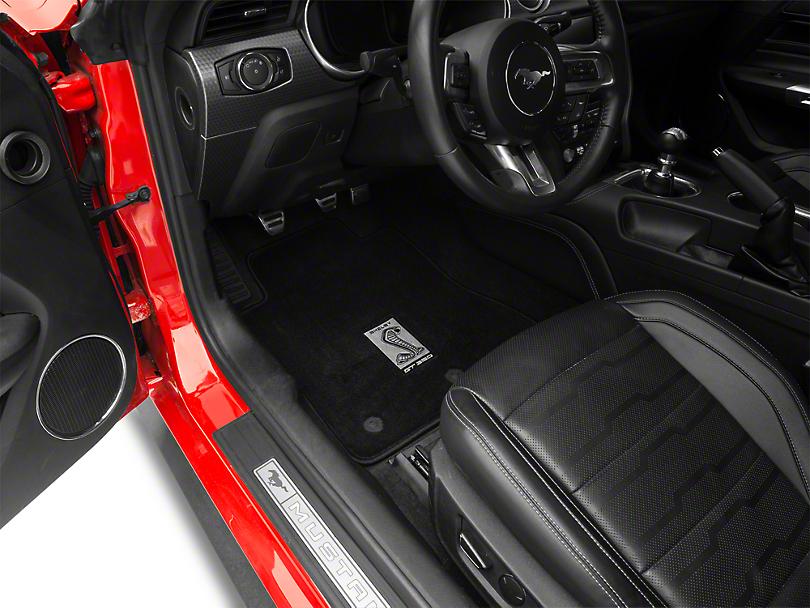 Lloyd Front & Rear Floor Mats w/ Shelby GT350 Snake Logo - Black (15-19 All)