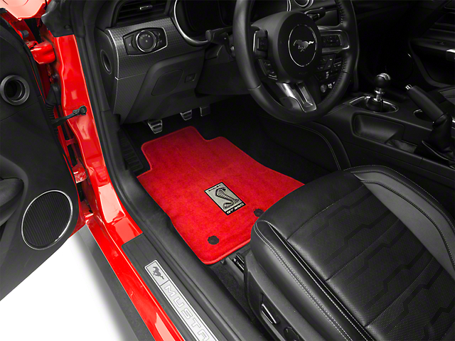 Lloyd Front & Rear Floor Mats w/ Shelby GT350 Logo - Red (15-20 All)