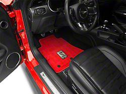 Lloyd Front & Rear Floor Mats w/ Shelby GT350 Logo - Red (15-19 All)