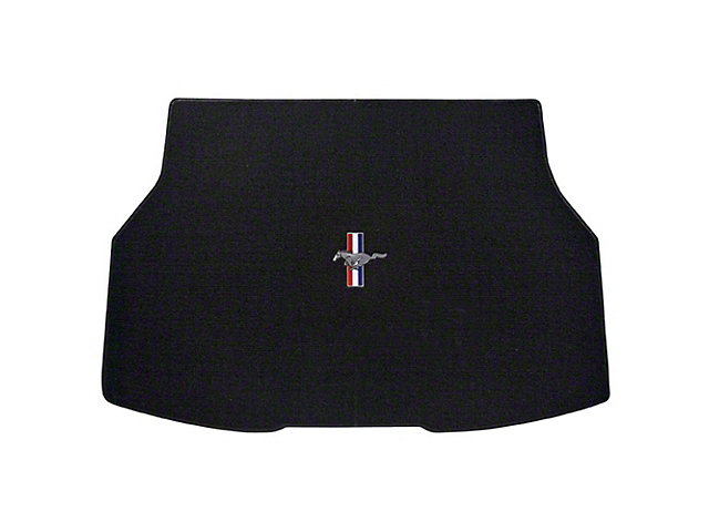 Lloyd Trunk Mat with Tri-Bar Pony Logo; Black (79-86 All)