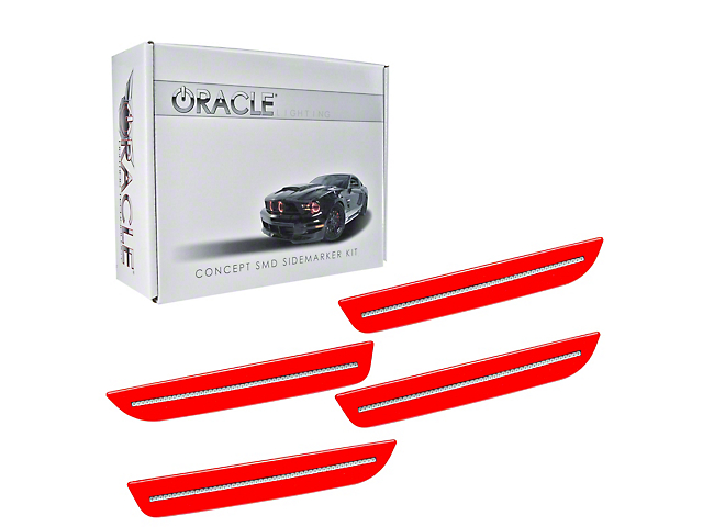 Oracle Concept LED Side Marker Kit; Clear; Pre-Painted (10-14 All)