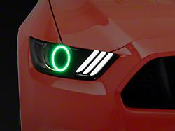 Oracle LED Halo Headlight Conversion Kit; ColorSHIFT; WiFi Controller (15-17 All; 18-20 GT350, GT500)