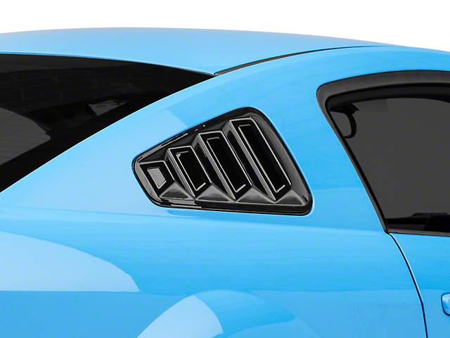 SpeedForm Quarter Window Louvers; Gloss Black (05-09 Coupe)
