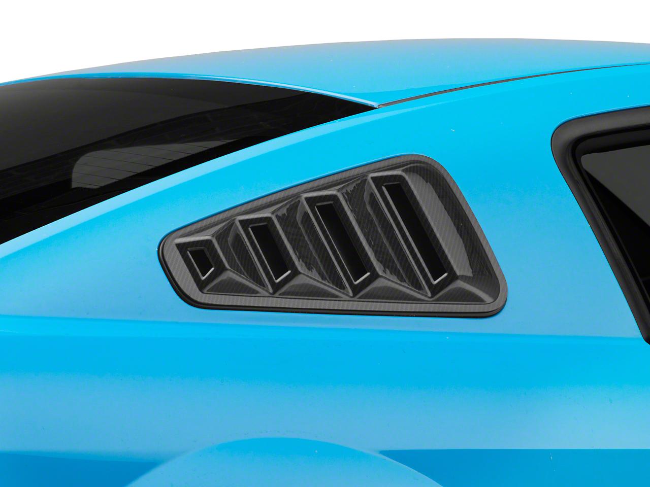 SpeedForm Quarter Window Louver - Carbon Fiber Appearance (05-09 Coupe)
