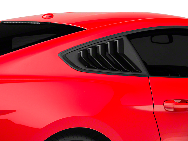 SpeedForm Sport Quarter Window Louver - Matte Black (15-19 Fastback)
