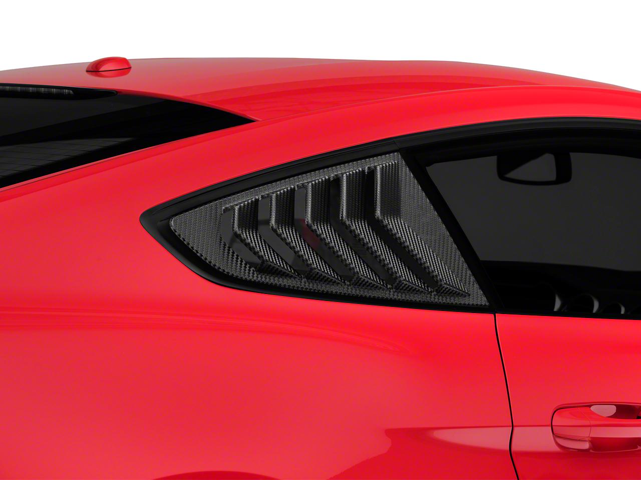 SpeedForm Sport Quarter Window Louver - Textured Carbon Appearance (15-19 Fastback)