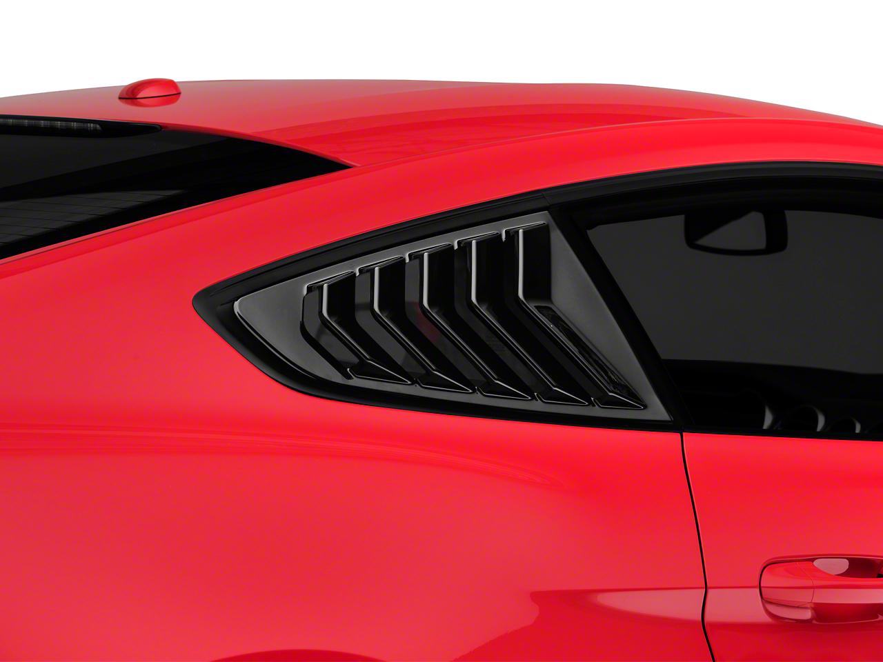 SpeedForm Sport Quarter Window Louver - Gloss Black (15-19 Fastback)