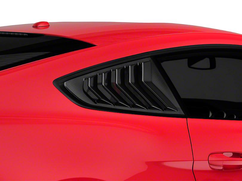 SpeedForm Sport Quarter Window Louver - Carbon Fiber Appearance (15-19 Fastback)