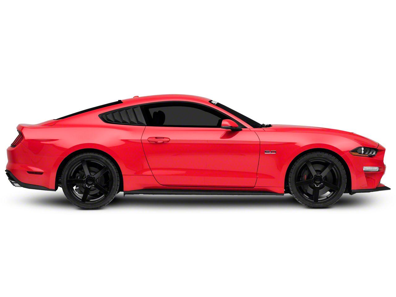 for Mustang 2015-2020 Fastback SpeedForm Vintage Quarter Window Louvers Matte Black