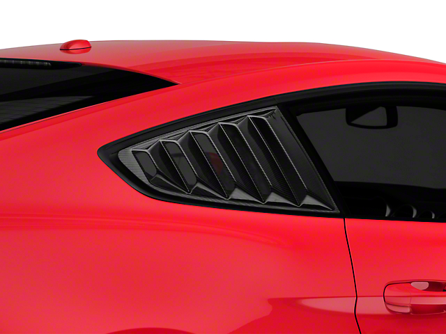 SpeedForm Vintage Quarter Window Louver - Carbon Fiber Appearance (15-19 Fastback)