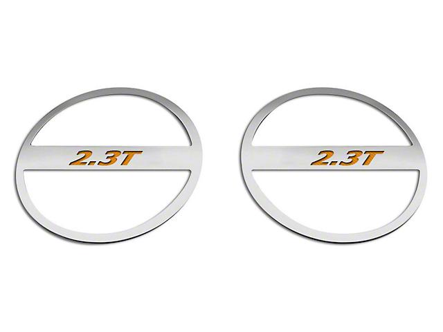 ACC Brushed Lower Door Speaker Trim w/ 2.3T Logo - Orange Carbon Fiber (15-18 EcoBoost)