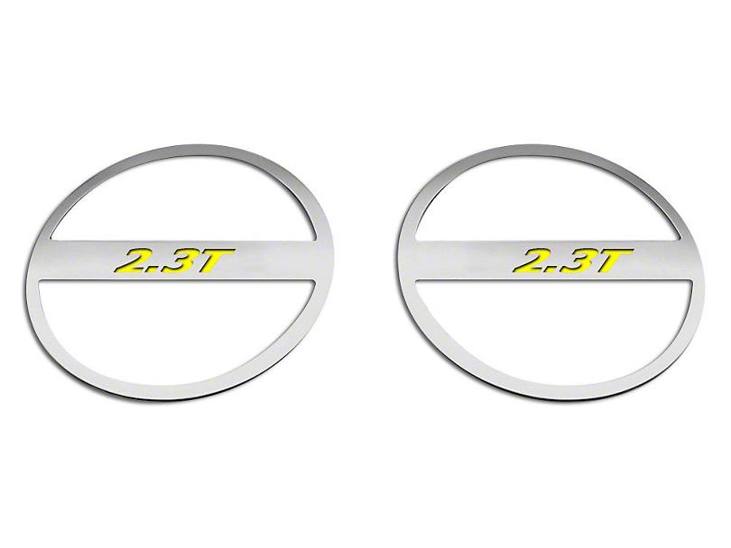 ACC Brushed Lower Door Speaker Trim w/ 2.3T Logo - Solid Yellow (15-18 EcoBoost)