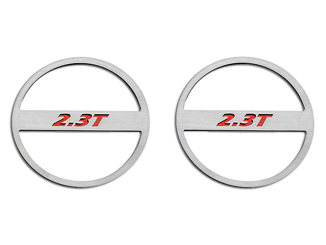 ACC Brushed Mid-Range Speaker Trim w/ 2.3T Logo - Red Carbon Fiber (15-19 EcoBoost)