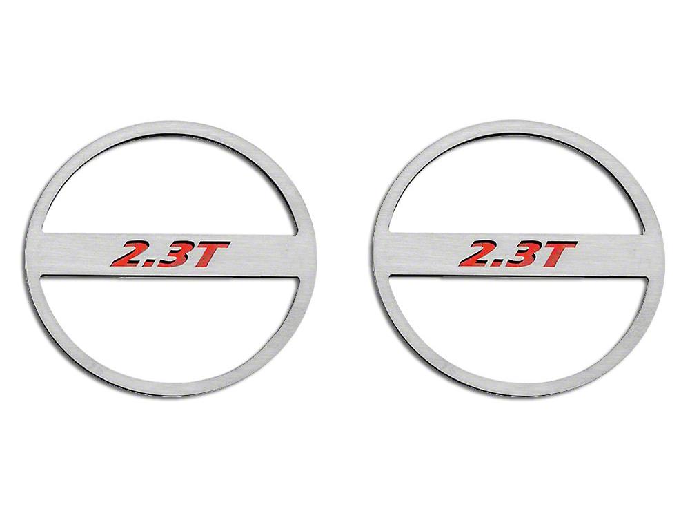 ACC Brushed Mid-Range Speaker Trim w/ 2.3T Logo - Red Carbon Fiber (15-18 EcoBoost)