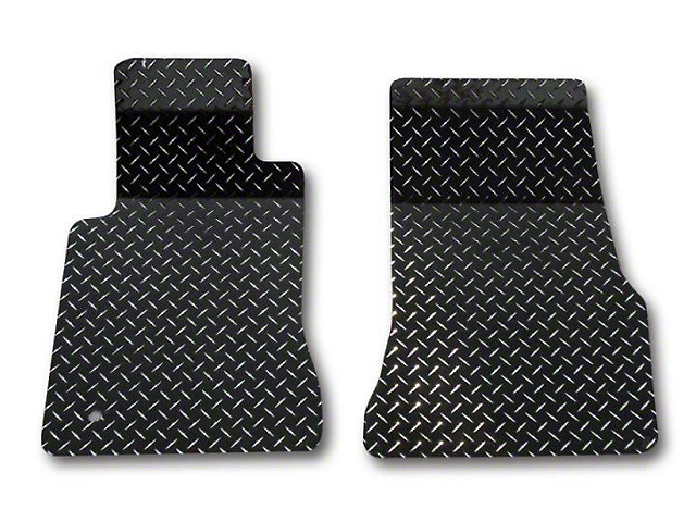 American Car Craft Diamond Plate Front Floor Mats - Black (05-09 All)