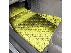 Diamond Plate Front Floor Mats; Yellow (05-09 All)