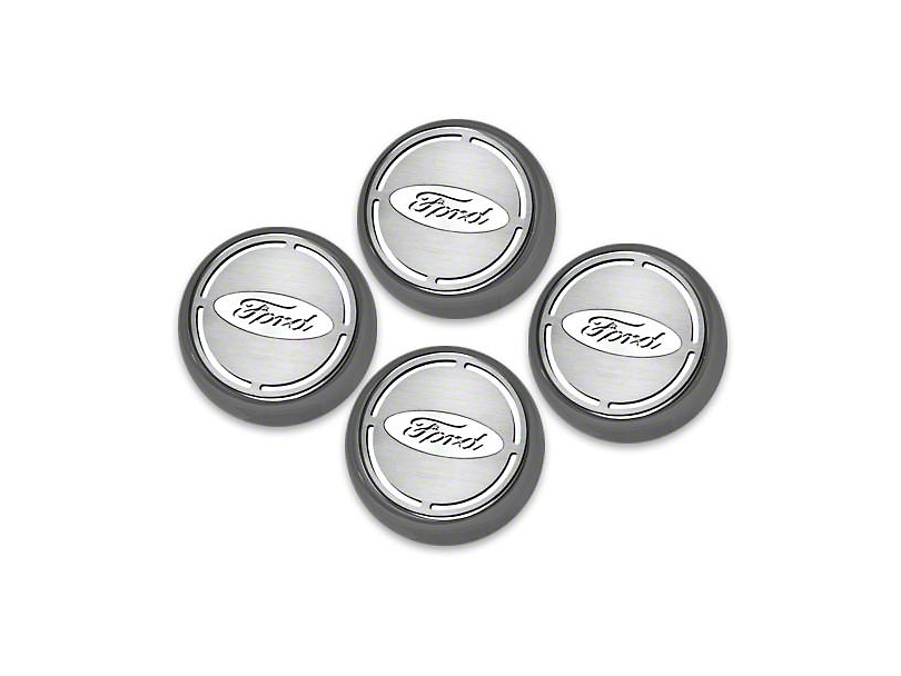 ACC Engine Cap Covers w/ Ford Oval - White Carbon Fiber Inlay (15-17 All)