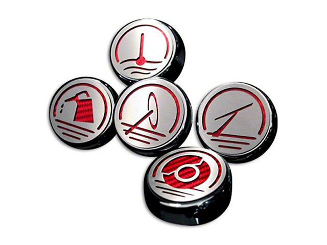 ACC Executive Series Engine Cap Covers - Red Carbon Fiber Inlay (05-09 GT, V6)