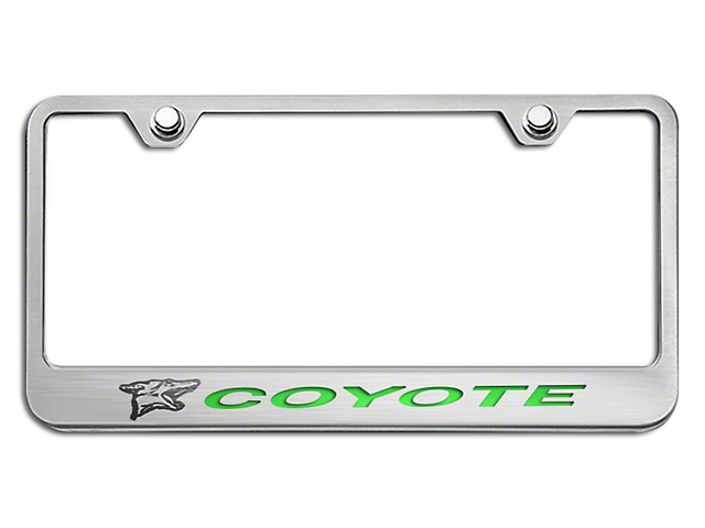ACC License Plate Frame w/ Coyote Logo - Solid Green Inlay (79-18 All)