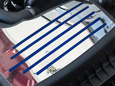 ACC Polished Factory Air Box Accent Plate - Solid Ford Blue Inlay (15-18 GT, EcoBoost, V6)