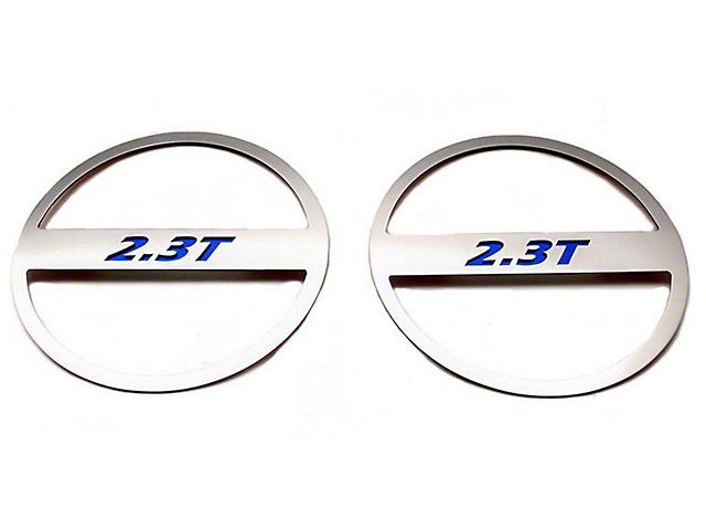 ACC Polished Mid-Range Speaker Trim w/ 2.3T Logo - Blue Carbon Fiber (15-18 EcoBoost)